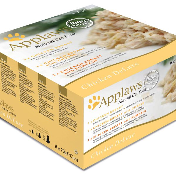 Applaws Cat Can Chicken Deluxe Multi Pack 8x70g