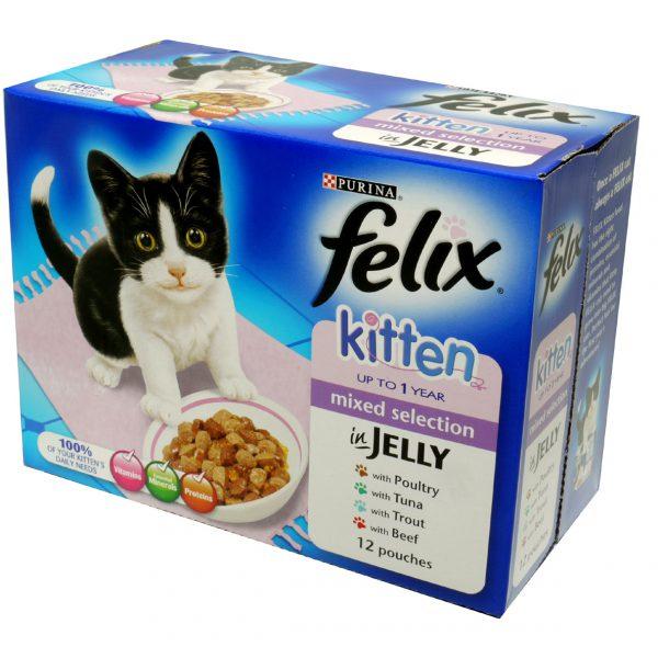 Felix Pouch Kitten Cij Mixed Selection Mvp 12x100g